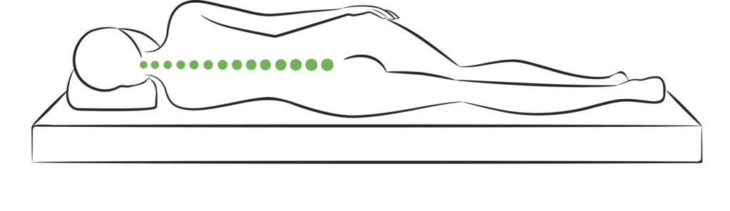 Eine gerade Wirbelsäule ist wichtig für erholsamen Schlaf